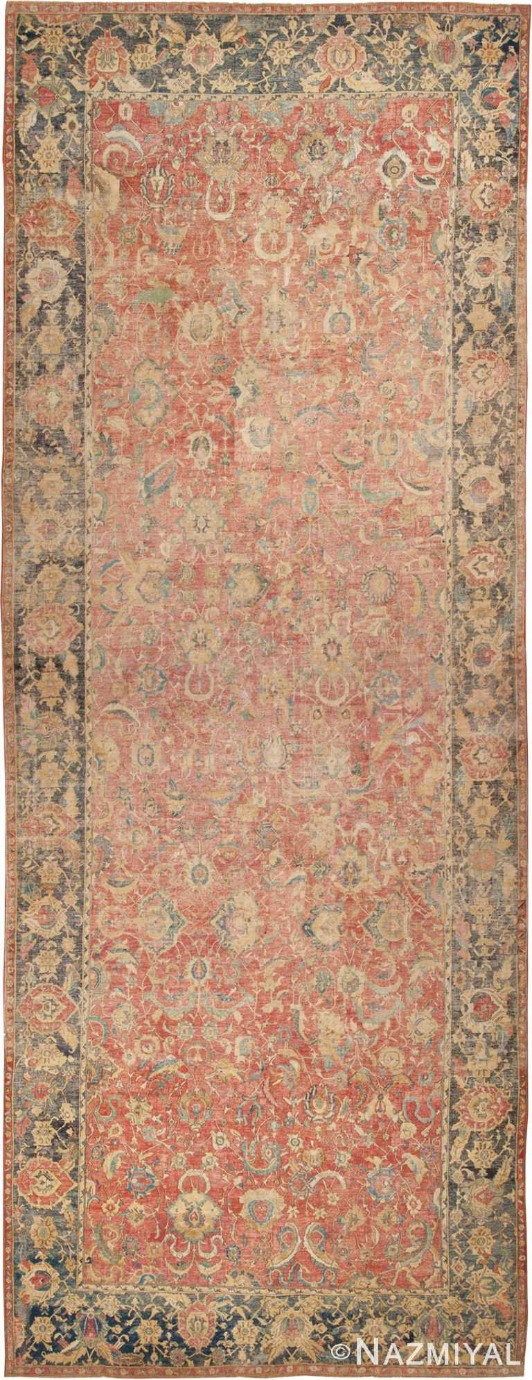 Oversized Antique 17th Century Persian Esfahan Oriental Rug #44143 by Nazmiyal Antique Rugs