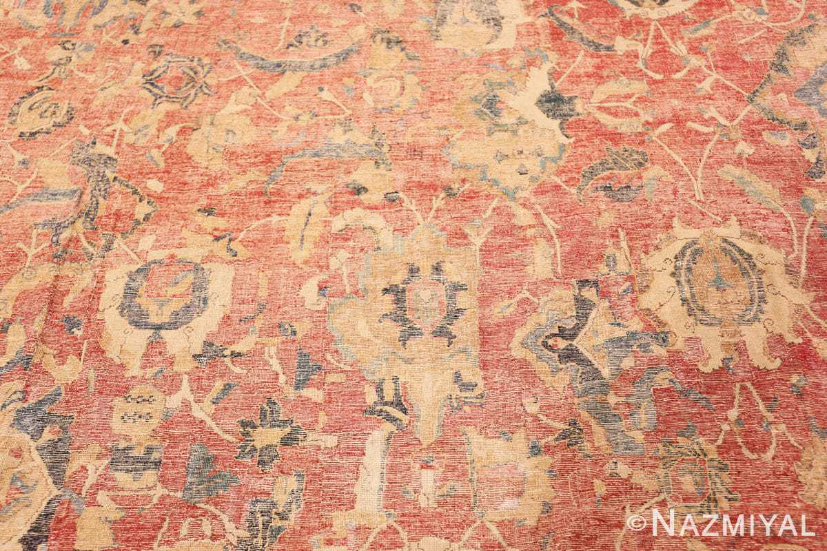 Parttern Oversized Antique 17th Century Persian Esfahan Oriental rug 44143 by Nazmiyal