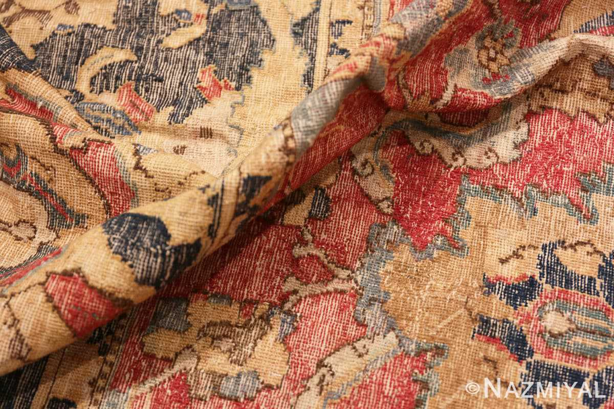 Pile Oversized Antique 17th Century Persian Esfahan Oriental rug 44143 by Nazmiyal