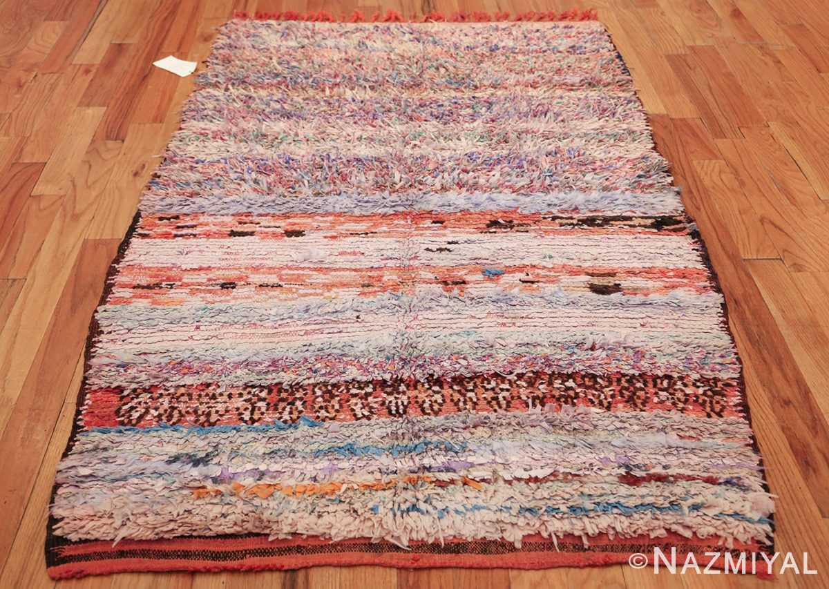 small vintage mid century rag texture moroccan carpet 45696 whole nazmiyal