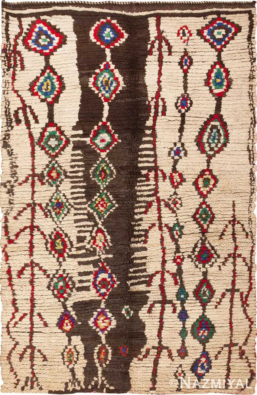 Picture of Vintage Moroccan Rug #45759 from Nazmiyal Antique Rugs in NYC