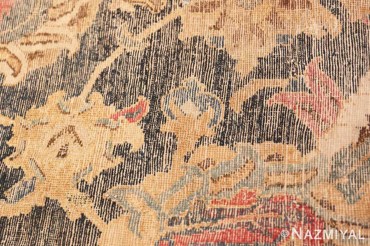Weave detail Oversized Antique 17th Century Persian Esfahan Oriental rug 44143 by Nazmiyal