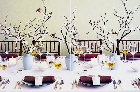 Beautiful White Orchids Floral Valentines Table Setting by nazmiyal
