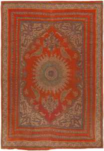Antique Esfahan Rug 45777 Detail/Large View