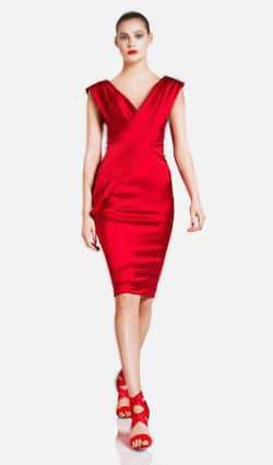 Donna Karan Resort Red Valentine's Day Dress Nazmiyal
