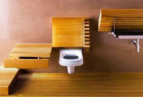 Eco Friendly Bamboo Bathroom Modern Interior Design Nazmiyal