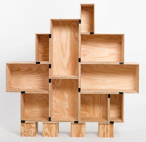 Eco Friendly Interior Design - Recycled Wood Modern Bookcase Nazmiyal