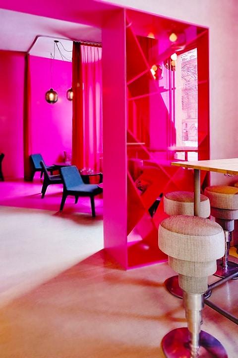 Hot Pink Home Interior by Nazmiyal