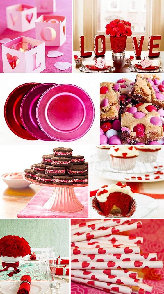 Love Themed Valentine Table Setting by nazmiyal