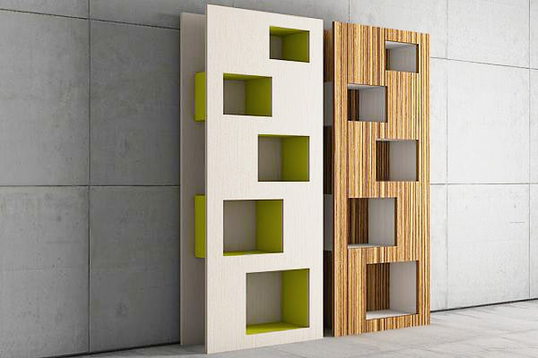 Modern Design Bookcase and Shelving Unit by Nazmiyal