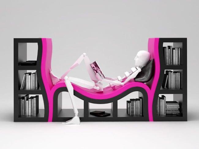 Modern Shelving Units, Shelves and Bookcase Skeleton by Nazmiyal