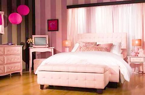 Pale Pink Bedroom Interior Design by Nazmiyal
