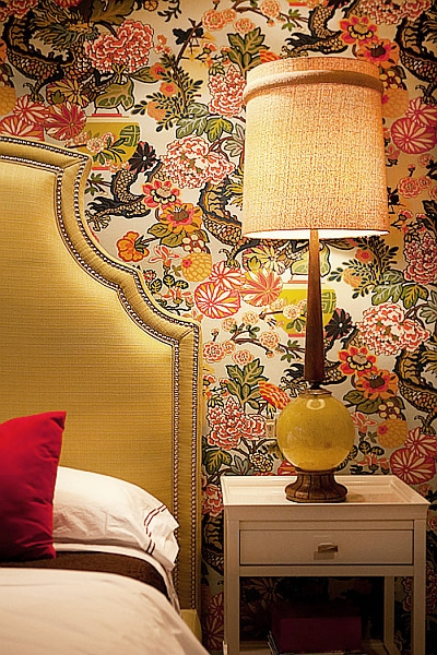Schumacher Modern Floral Wallpaper Nazmiyal