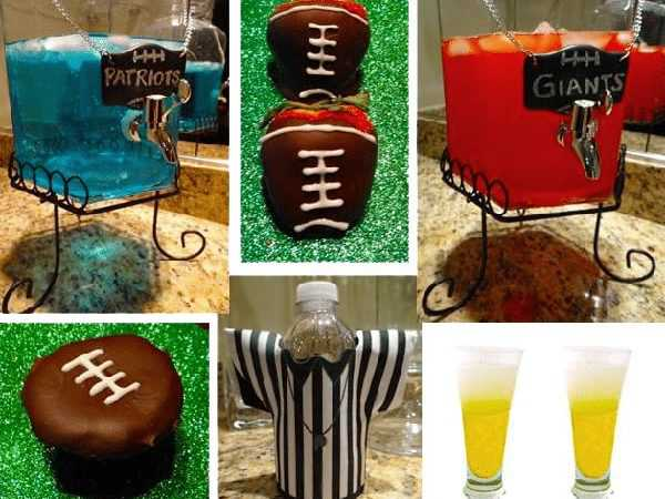 Super Superbowl Table Setting and Party Ideas - Nazmiyal