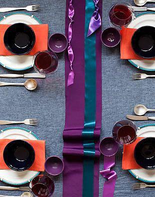 Vibrant Color Palette Superbowl Table Setting - Nazmiyal