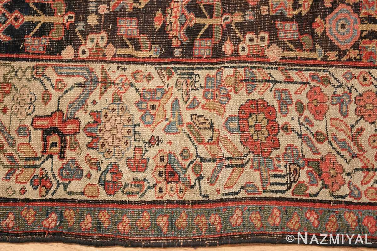 antique persian bidjar sampler rug 45502 border Nazmiyal
