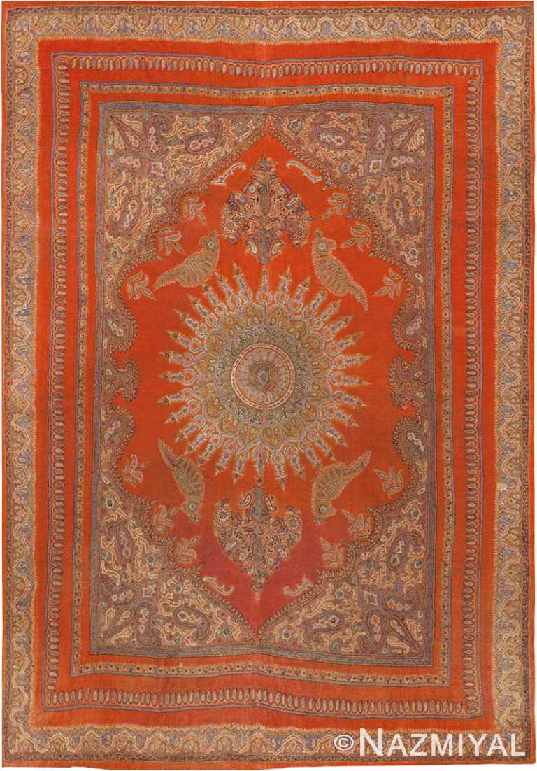 Antique Persian Isfahan Shawl #45777 by Nazmiyal Antique Rugs