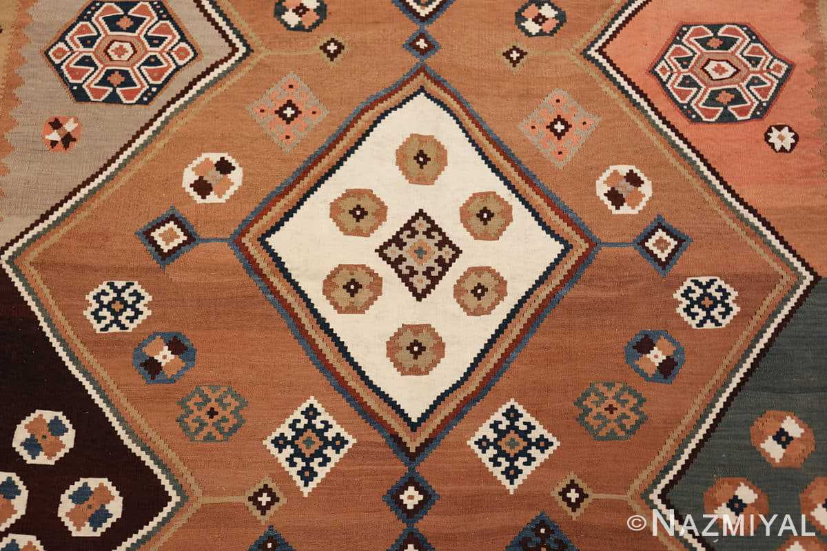 antique persian kilim 45782 medallion Nazmiyal