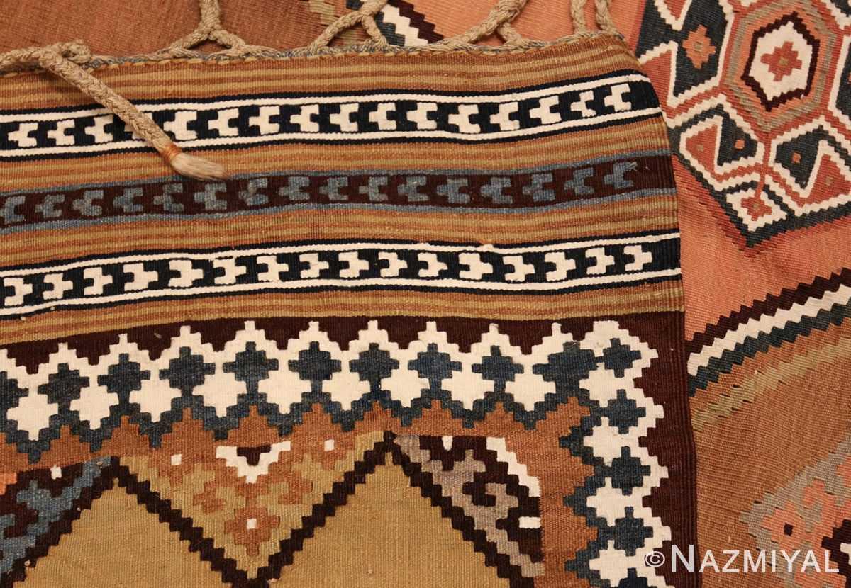 antique persian kilim 45782 weave Nazmiyal
