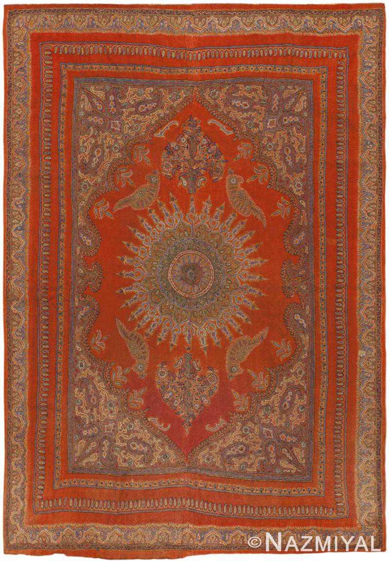 Antique Esfahan Rug 45777 Detail/Large View