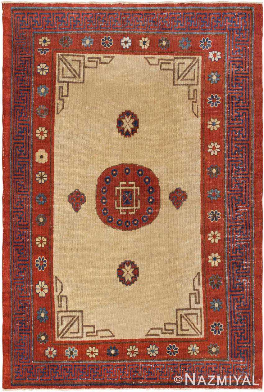 Antique Khotan Rug 45780 Detail/Large View