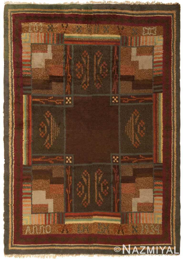 Vintage Rya Rug 45786 Detail/Large View