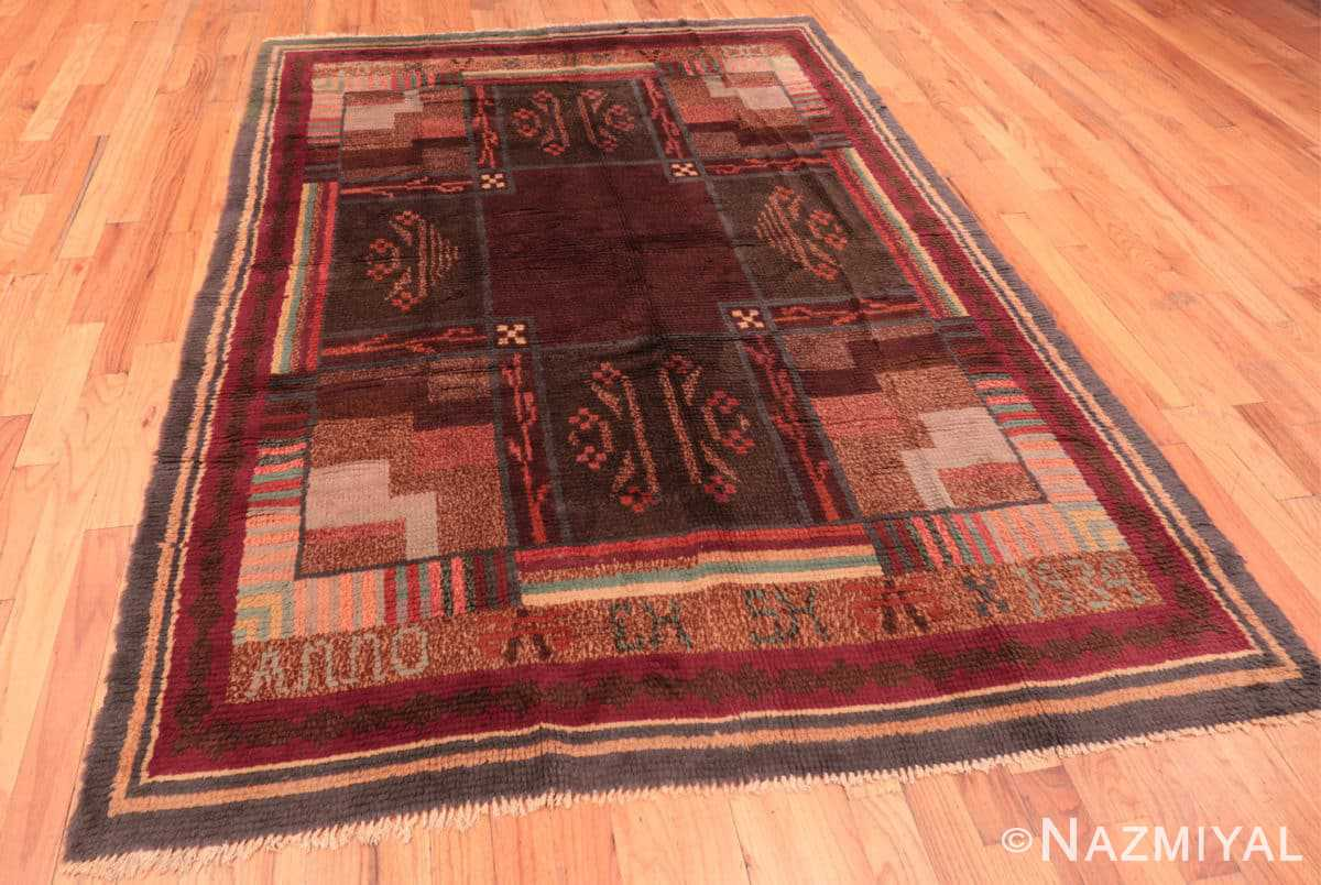 Full Vintage Scandinavian Swedish Rya rug 45786 by Nazmiyal