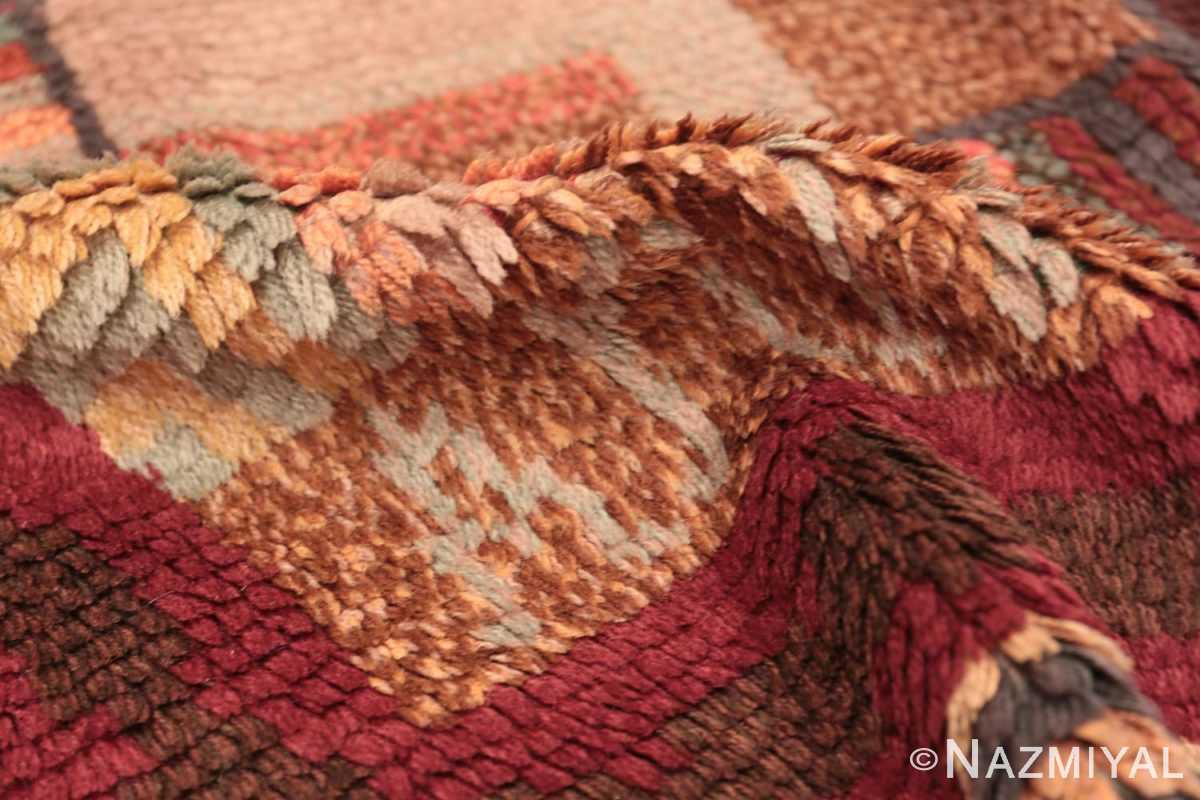 Pile Vintage Scandinavian Swedish Rya rug 45786 by Nazmiyal