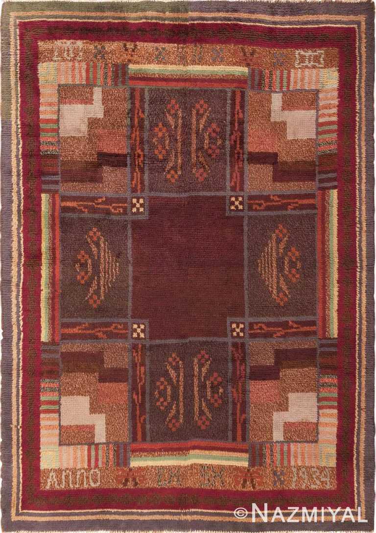 Vintage Scandinavian Swedish Rya Rug #45786 by Nazmiyal Antique Rugs