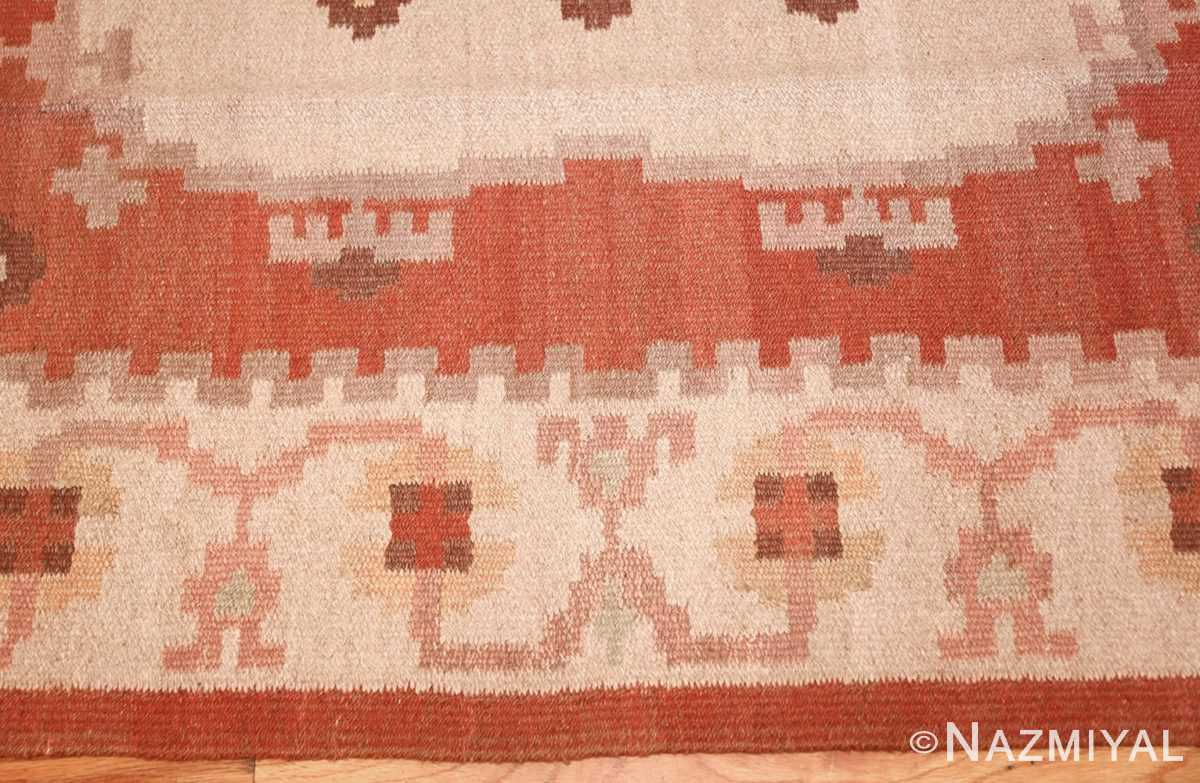 vintage swedish rug 45788 border Nazmiyal