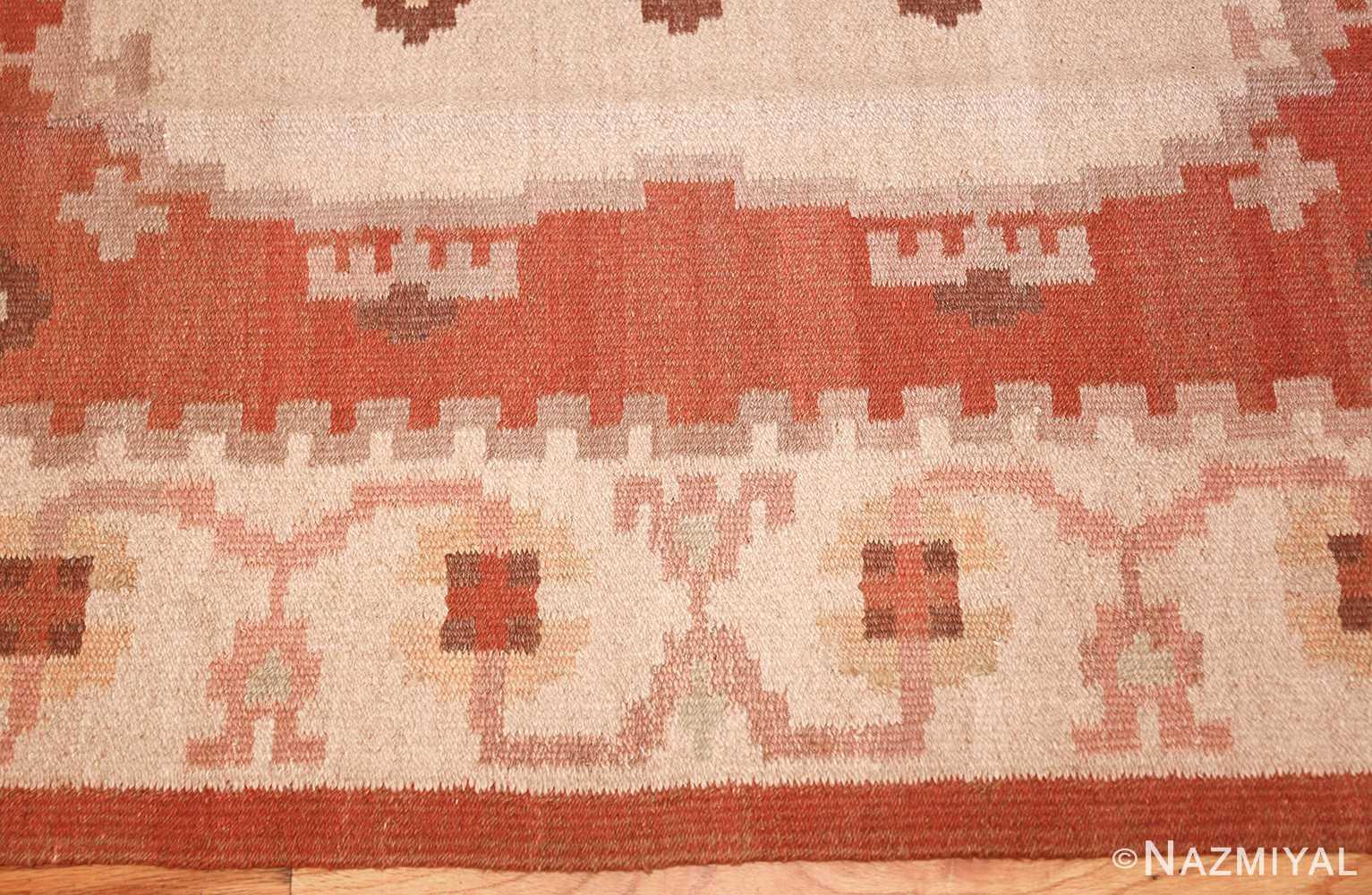 vintage swedish rug 45788 border Nazmiyal