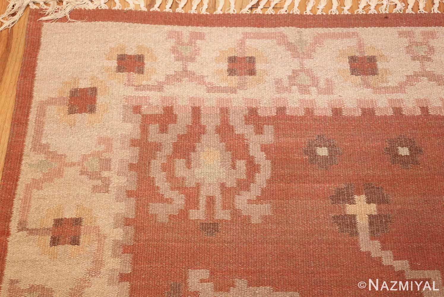vintage swedish rug 45788 corner Nazmiyal