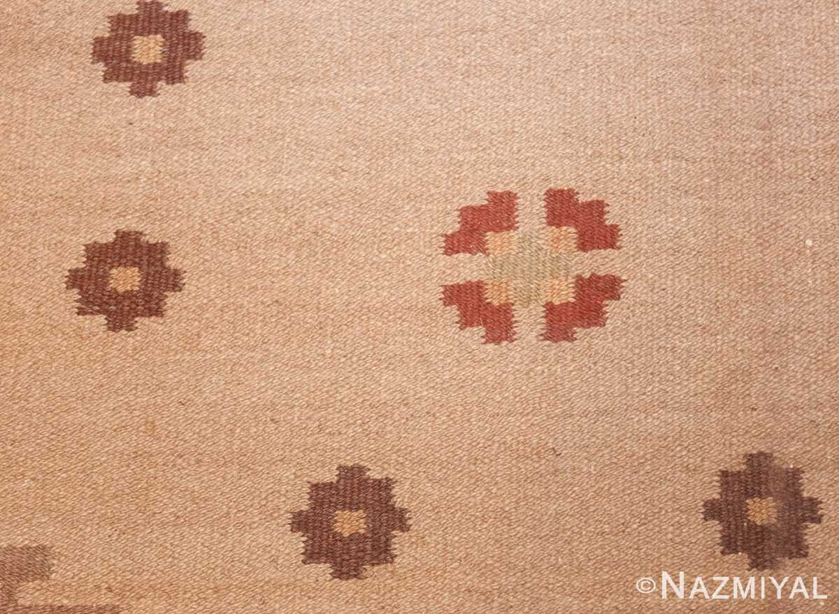 vintage swedish rug 45788 field Nazmiyal