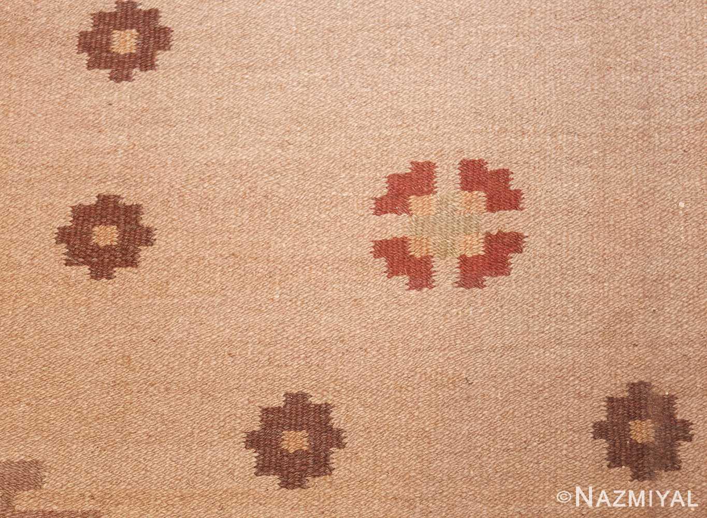 vintage swedish rug 45788 field Nazmiyal