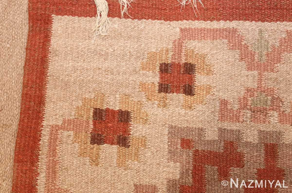 vintage swedish rug 45788 weave Nazmiyal
