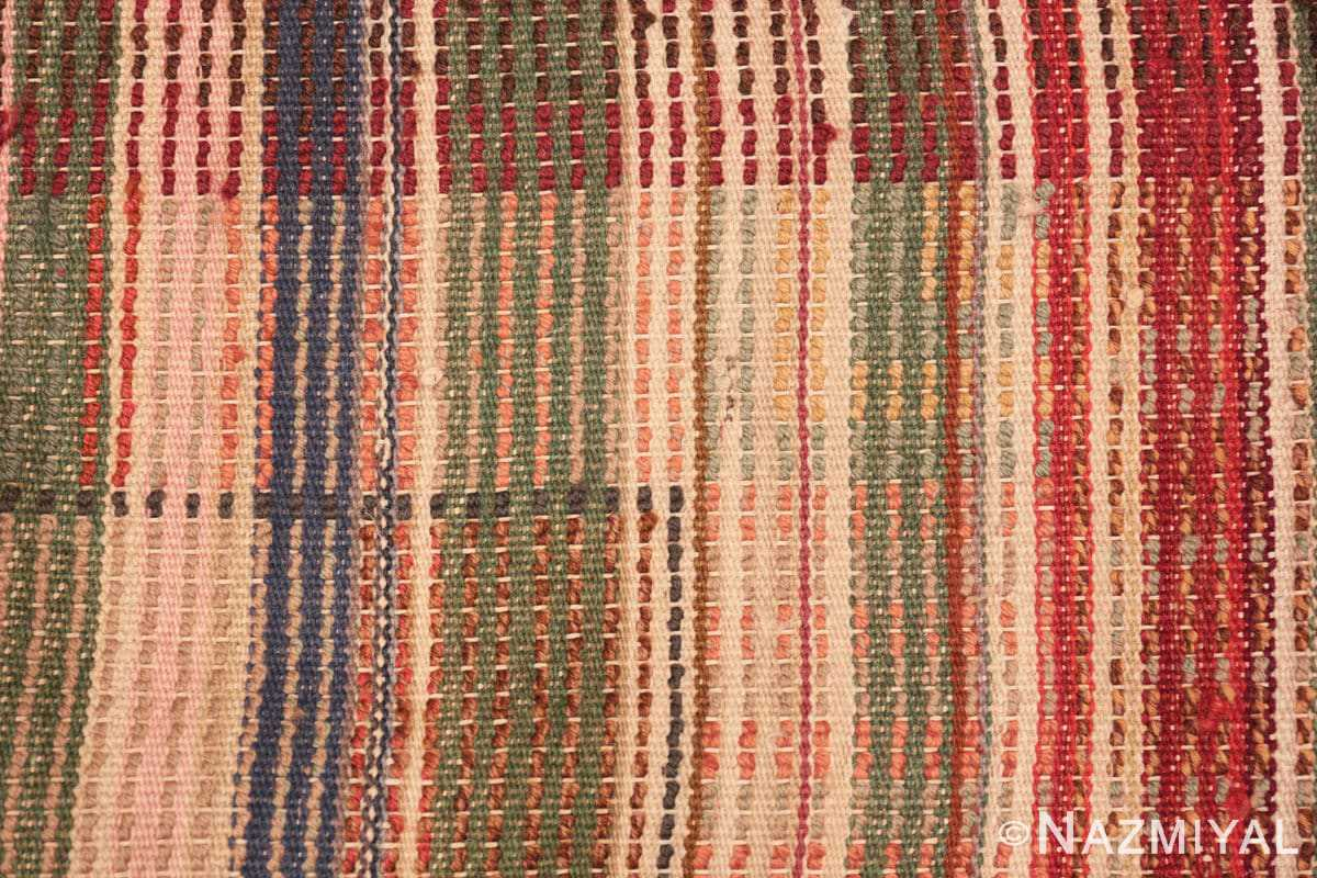 Weave detail Vintage Scandinavian Swedish Rya rug 45786 by Nazmiyal