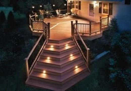 Solar-powered LED Deck