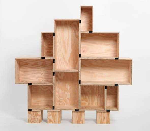 Eco-friendly Recycled Wood Bookcase