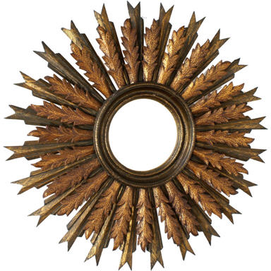 Contemporary Sunburst Mirror Design by Nazmiyal