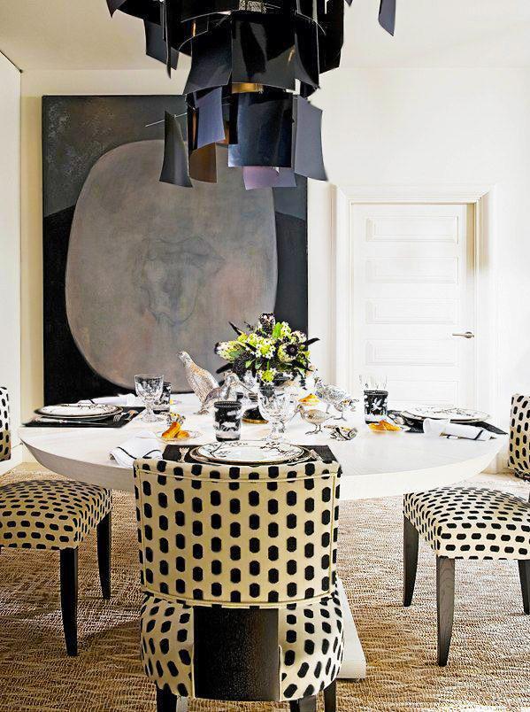 Dining Room Interior Design By Decorator Alberto Pinto by nazmiyal