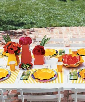 BBQ Table Setting