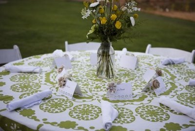 Green Table Setting