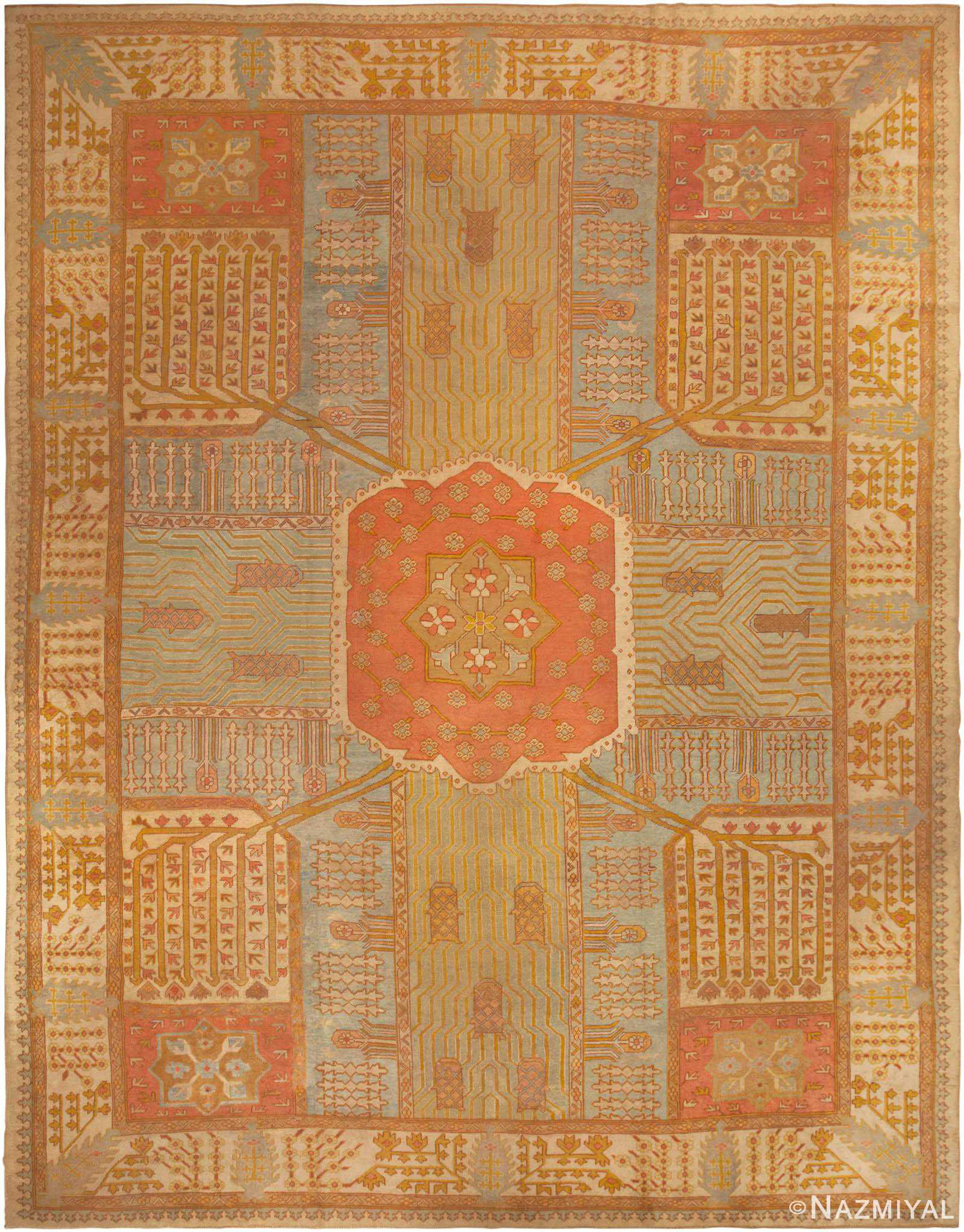 Antique Oushak Rug 44442