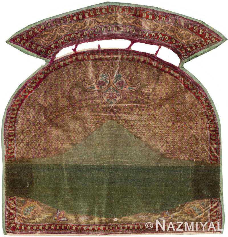Antique Silk Kerman Horse Cover 44718 Nazmiyal