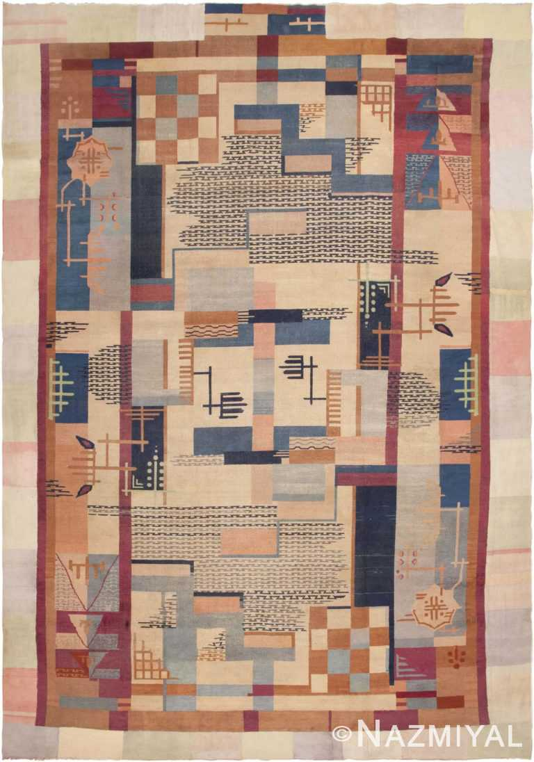 Large Art Deco Indian Rug 44979 by Nazmiyal