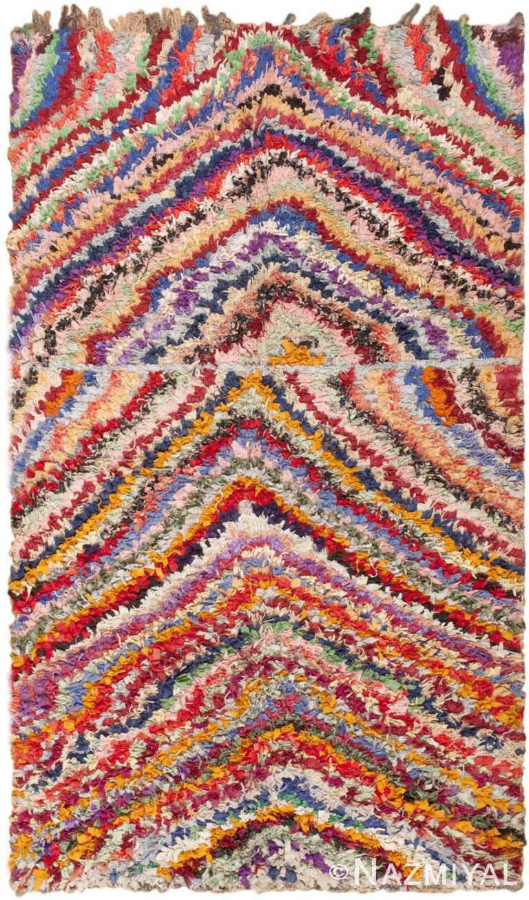 Vintage Moroccan Boucherouite Rug 45825 by Nazmiyal