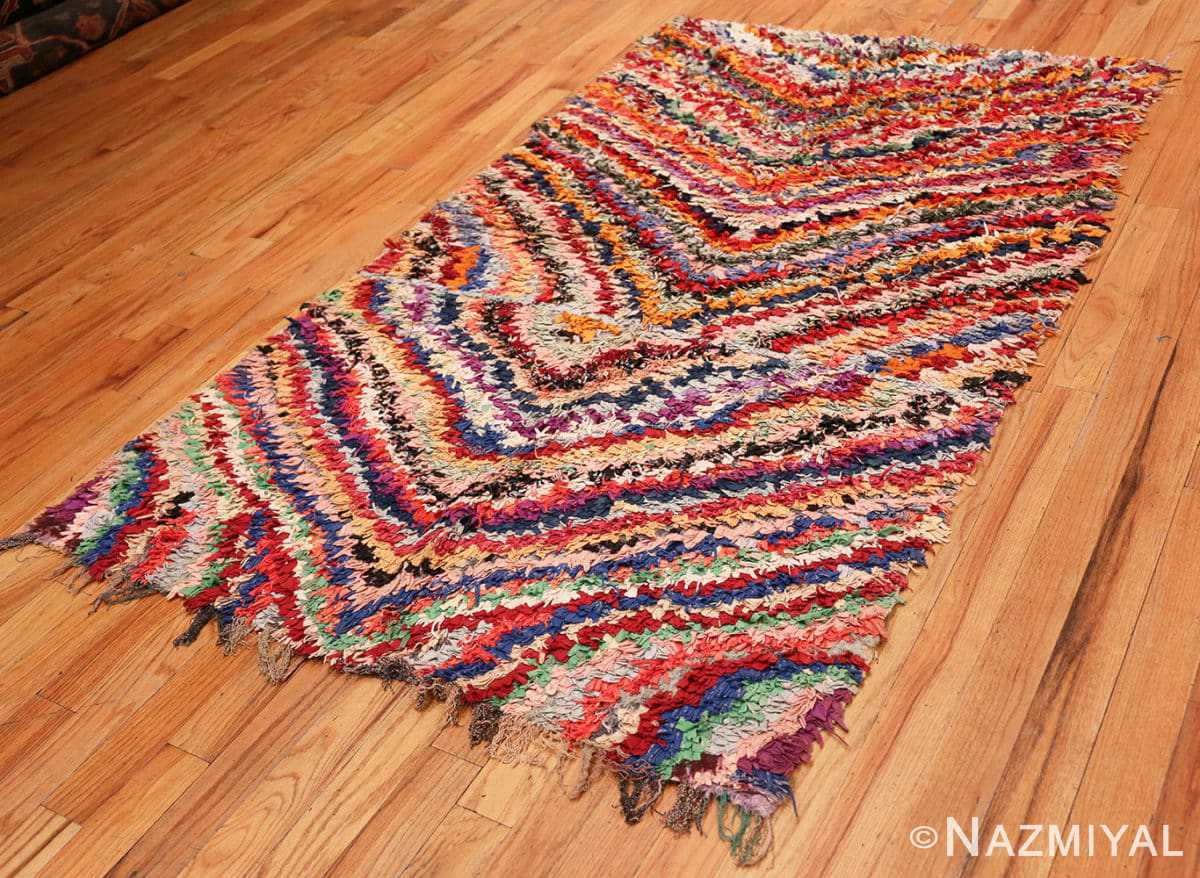 Full Vintage Moroccan Boucherouite rug 45825 by Nazmiyal