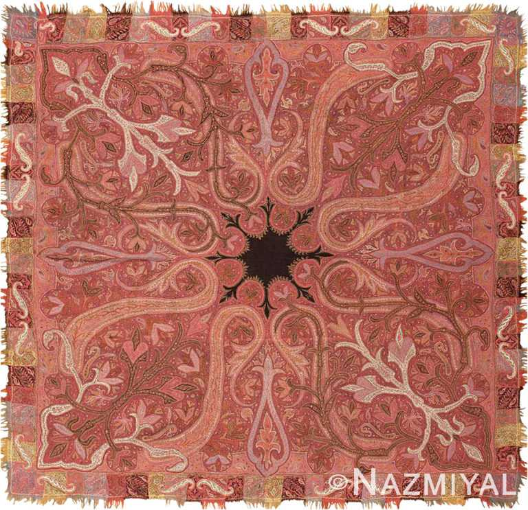 Square Antique Indian Shawl #45821 by Nazmiyal Antique Rugs