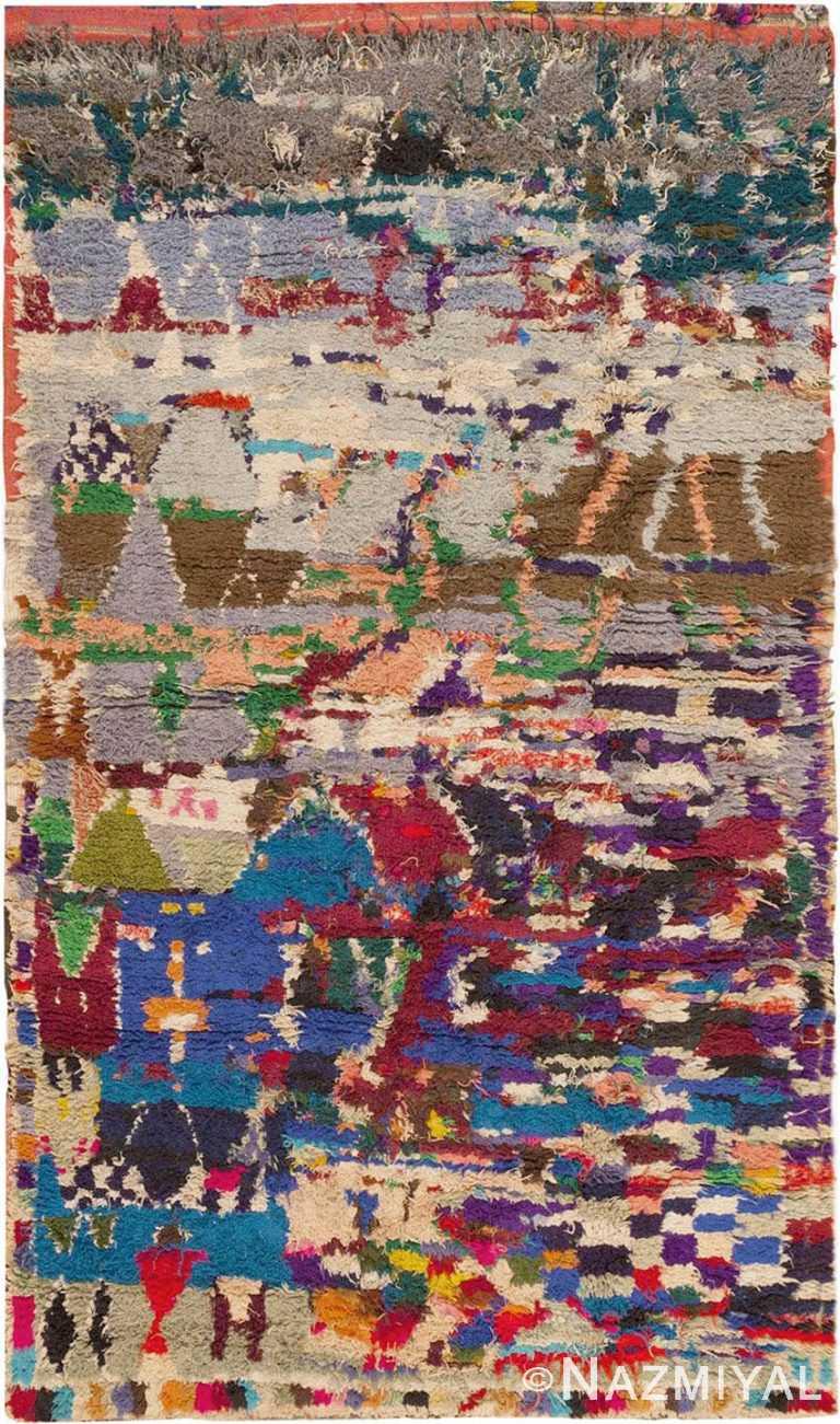 Vintage Moroccan Berber Carpet #45839 by Nazmiyal Antique Rugs