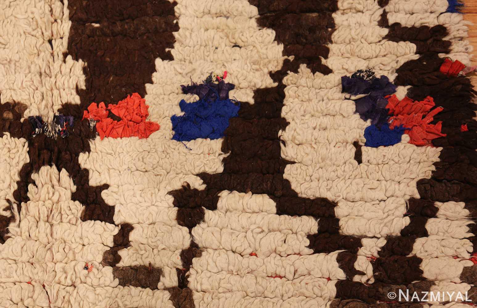 vintage moroccan rug 45822 dots Nazmiyal